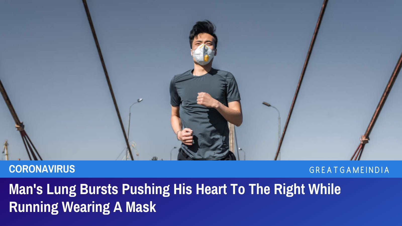 Man's Lung Bursts Pushing His Heart To The Right While Running Wearing A Mask